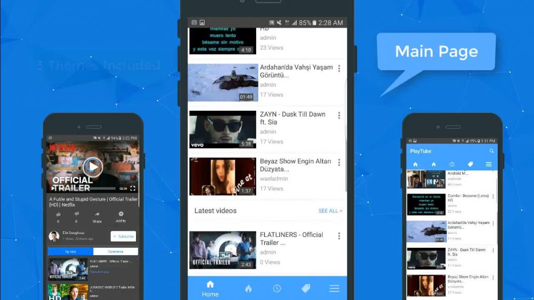 PlayTube Android + IOS native applications